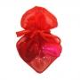 3 Mini Glass Hearts in Bag Set