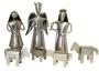 Metal 7 Pc Nativity Set