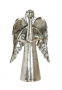 Silver Metal Angel Bell with Star
