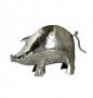 Silver Pig Figure