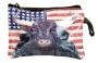 Steer Portrait/US Flag Coin Purse